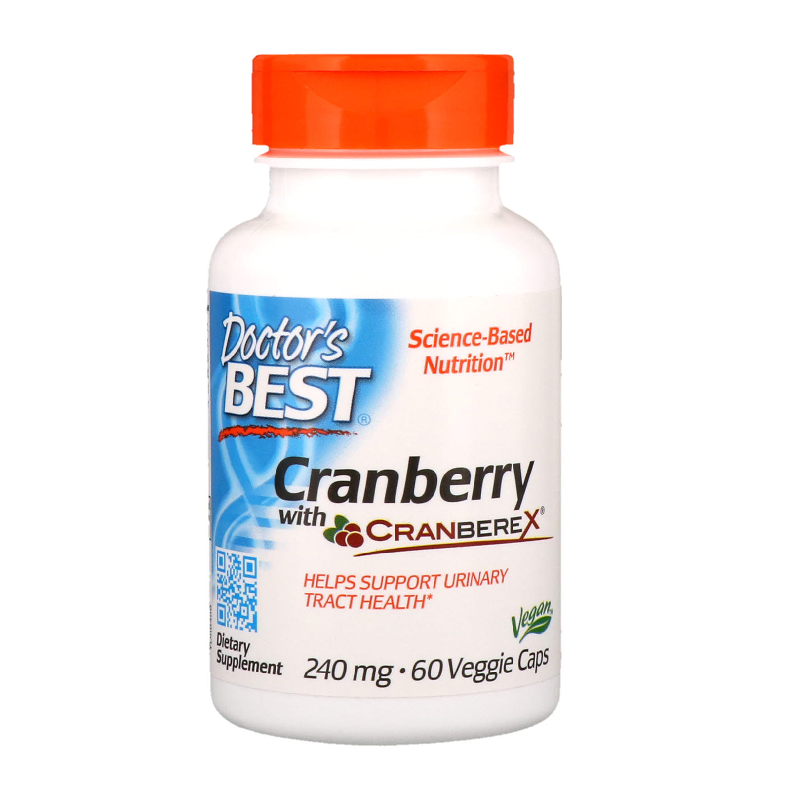 DOCTORS BEST Cranberry with cranberex 240mg 60Vegie caps
